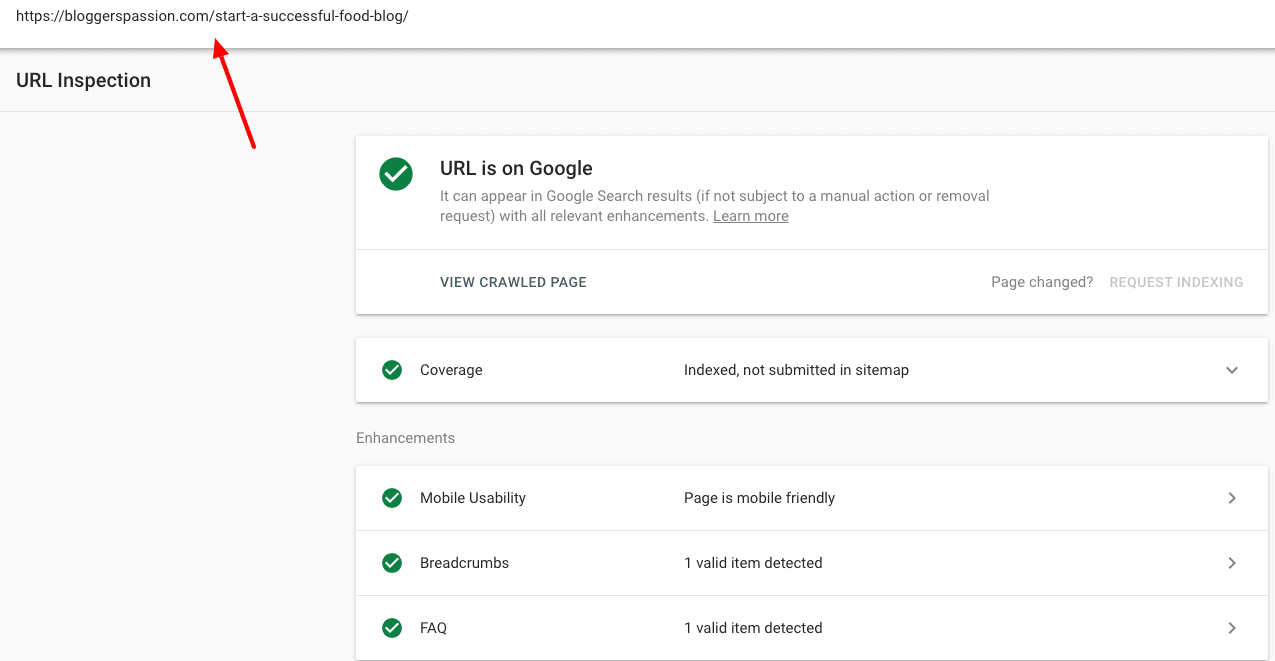 url inspection tool