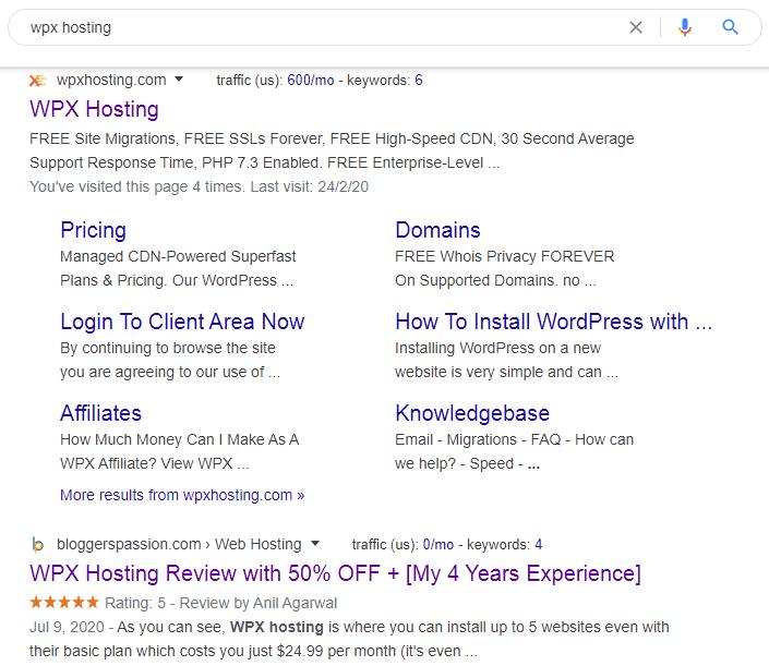wpx hosting star rating