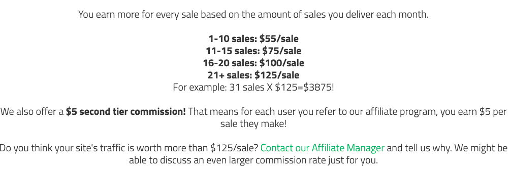 a2 hosting affiliate payout