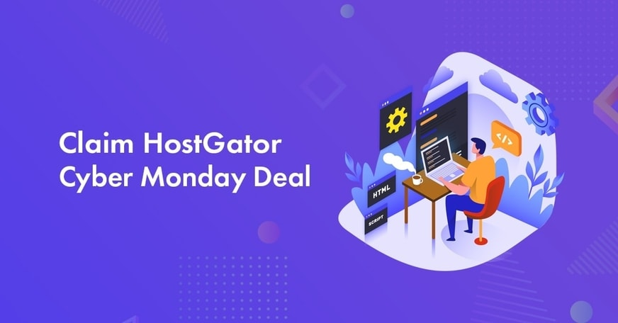 HostGator Cyber Monday Sale for 2021: Get 75% Off + FREE Domain At Only .08/mo