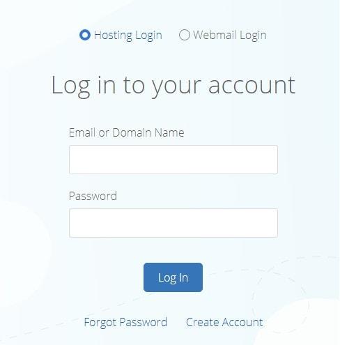 bluehost domain login