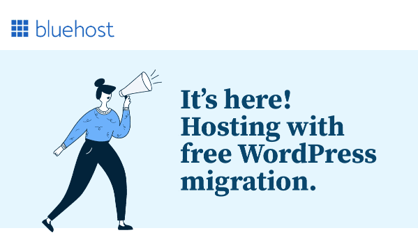 bluehost free wordpress migration