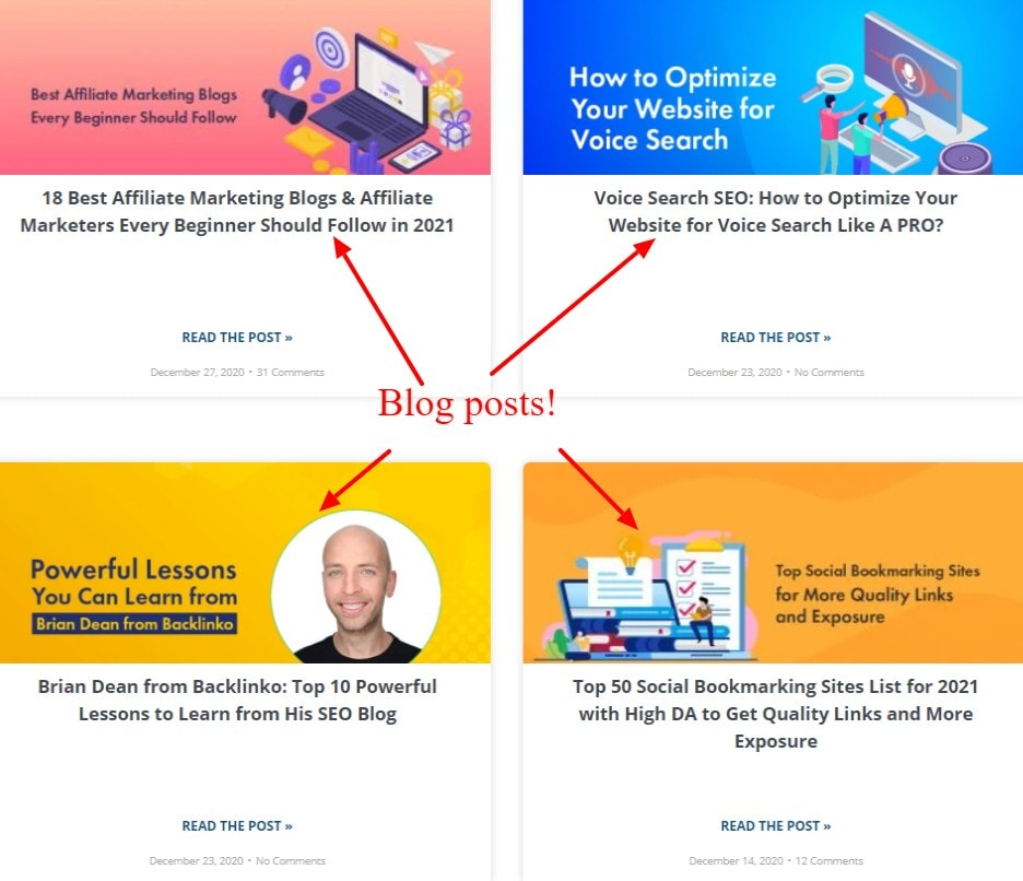 BloggersPassion blog layout