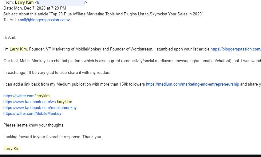 larry kim email