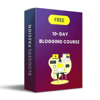 Free blogging course by Bloggerspassion