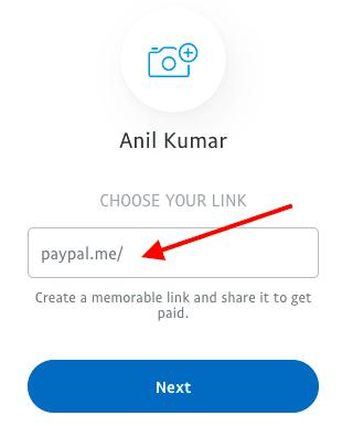 get paypal me link