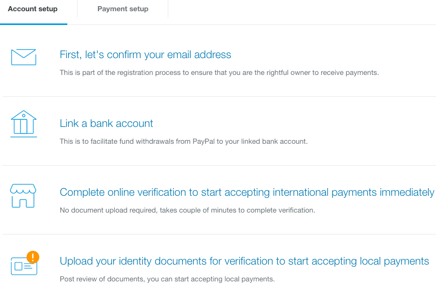 paypal account verification