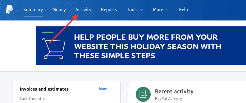 paypal activities
