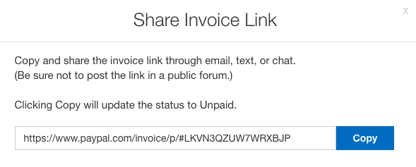 paypal invoice link