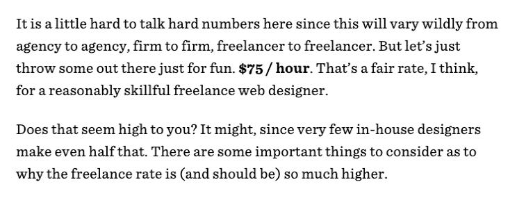 web designer earnings