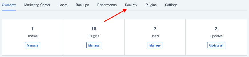 bluehost cpanel security