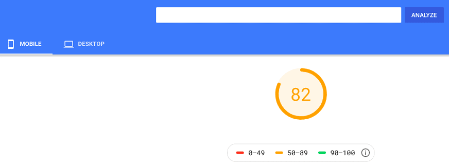 bluehost google page insights mobile