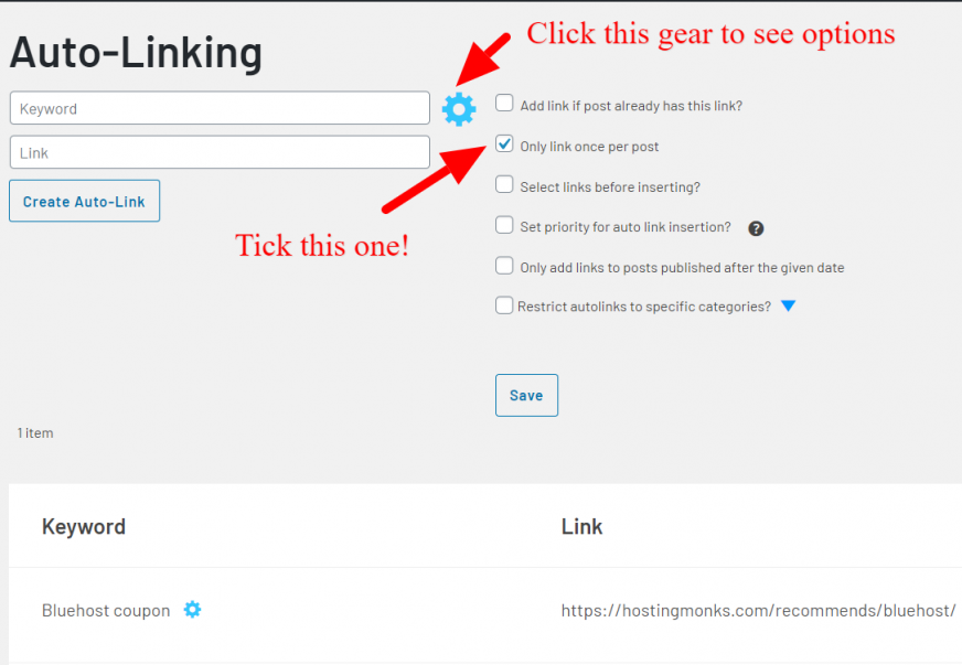 link whisper auto linking