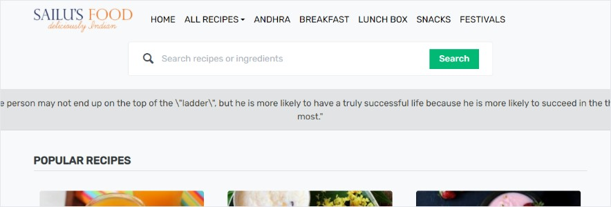 sailus food blog
