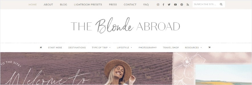 The Blonde Abroad blog