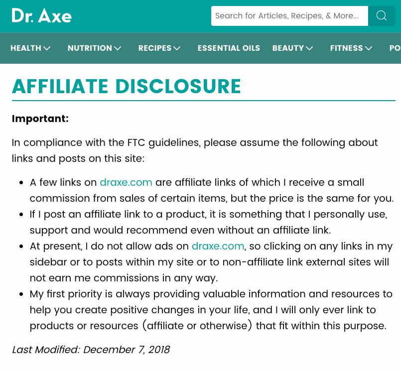 affiliate disclaimer axe