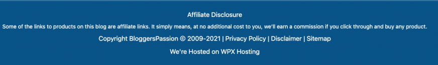 bloggerspassion affiliate disclosure