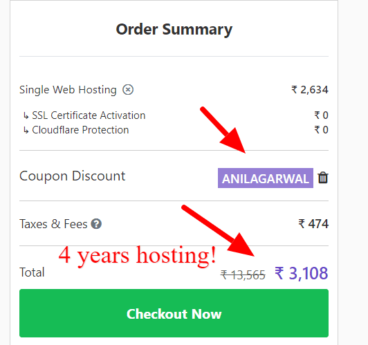 hostinger india coupon