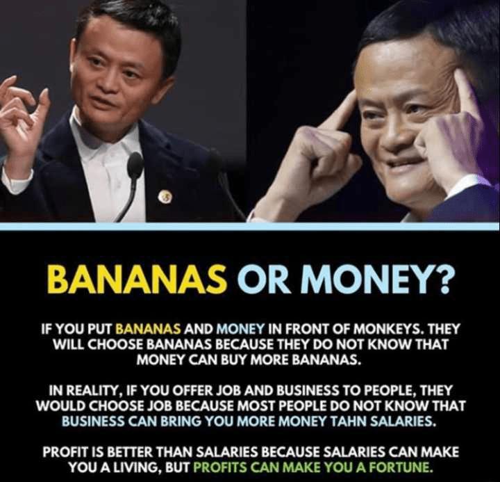 jack ma bananas quote