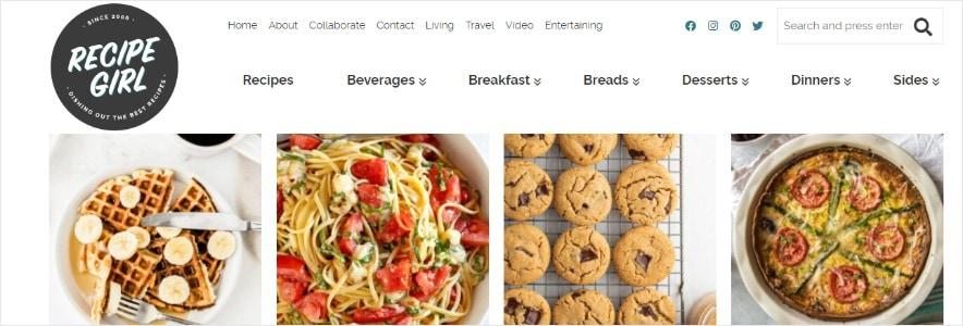 recipegirl blog