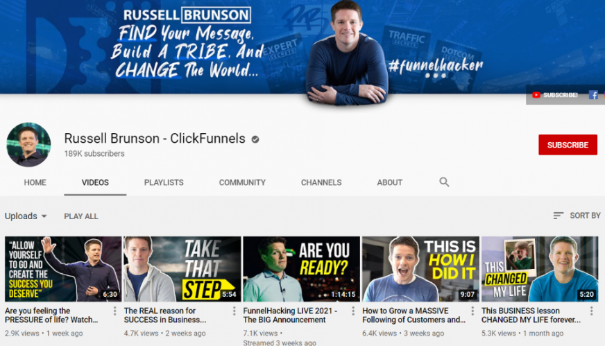 russell youtube