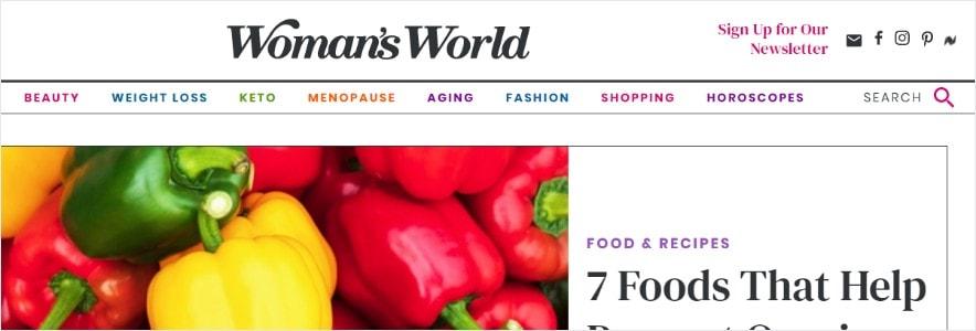 womans world blog