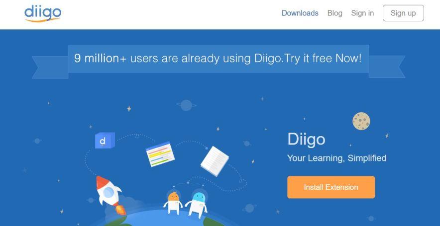 diigo bookmarking site