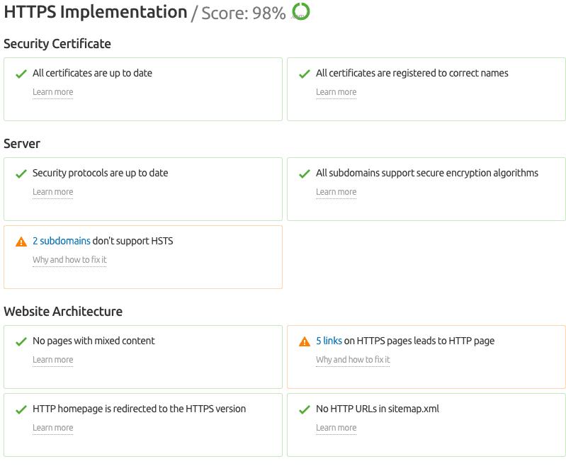 HTTPS implementation