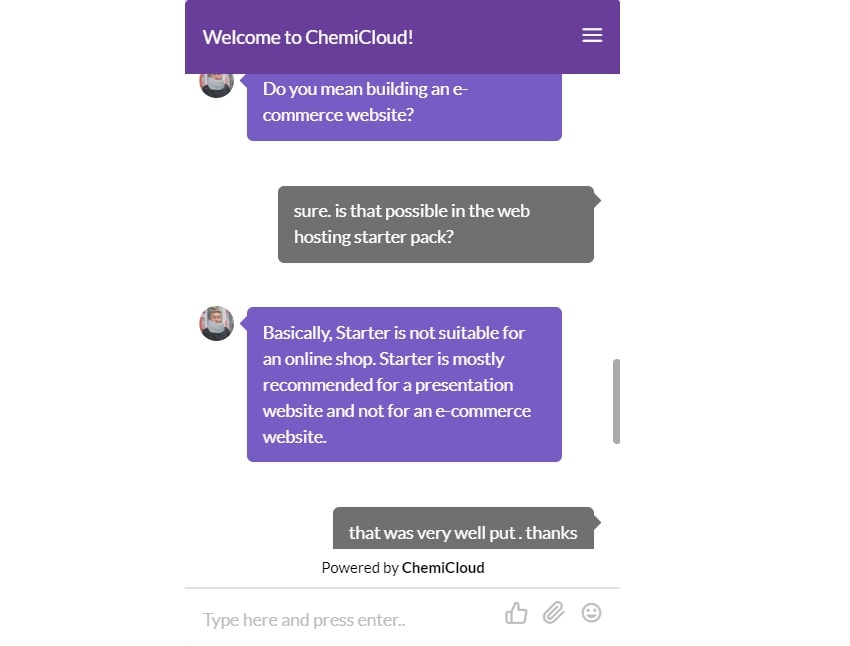 support of chemicloud