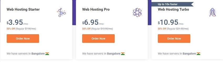 chemicloud web hosting plans