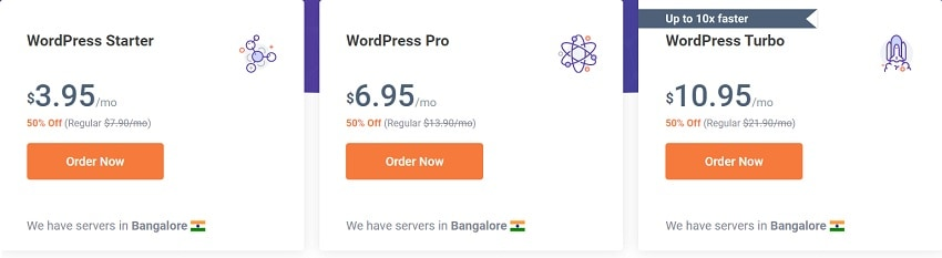 chemicloud wordpress hosting plans