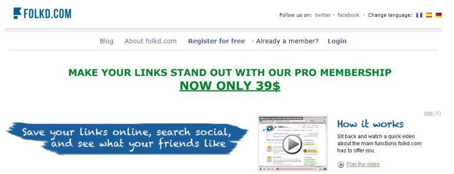 folkd social bookmarking site