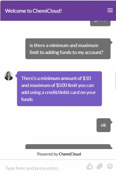 fourth response chemicloud chat