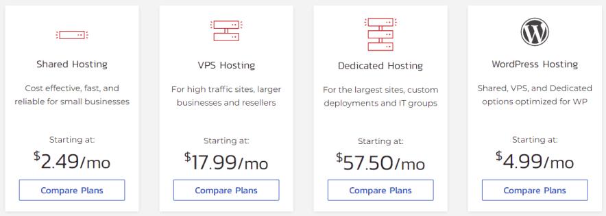 inmotion hosting plans