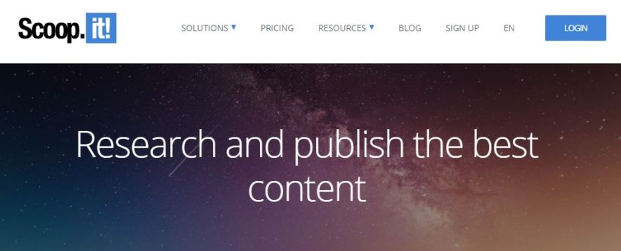 scoopit bookmarking site