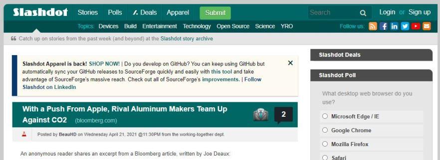 slashdot bookmarking site