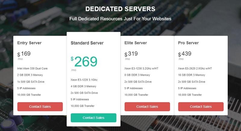greengeeks dedicated hosting