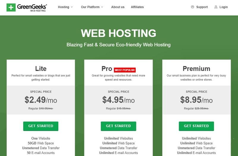 greengeeks shared hosting
