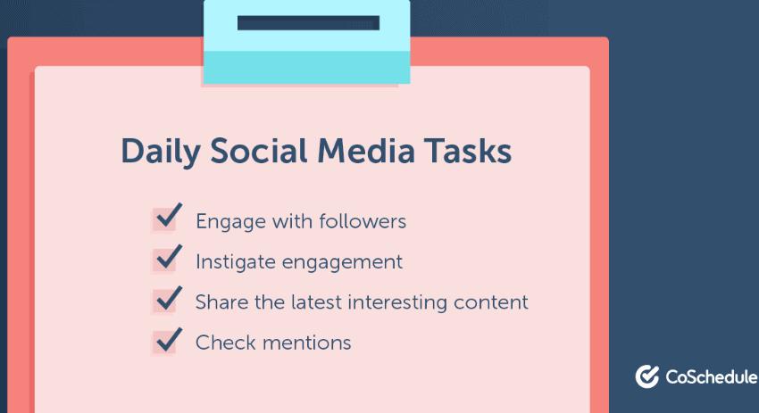 social media tasks