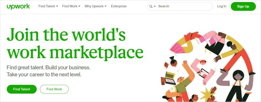 upwork market
