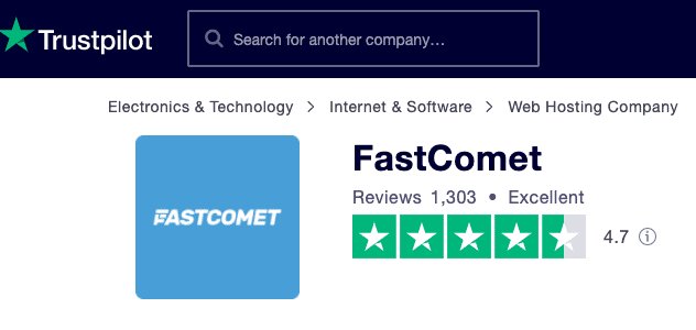 trustpilot fastcomet