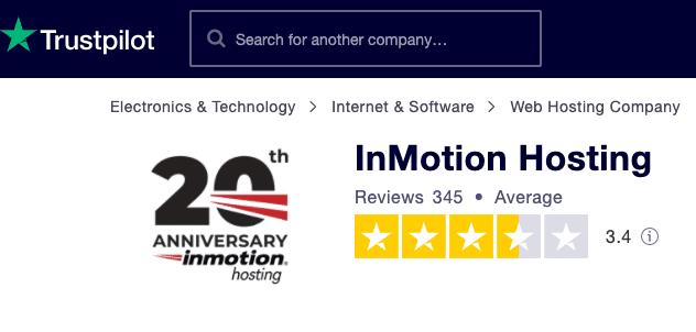 trustpilot inmotion
