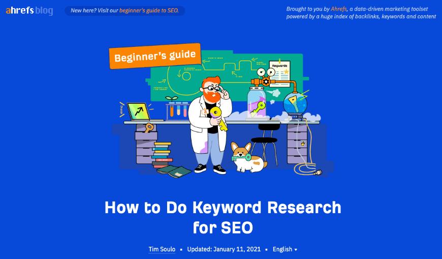 ahrefs keyword research