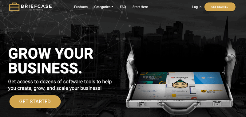 appsumo briefcase homepage