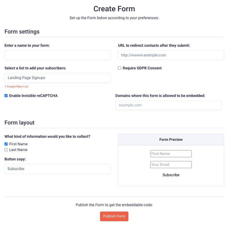 sendfox forms