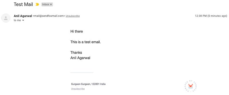 sendfox mail format