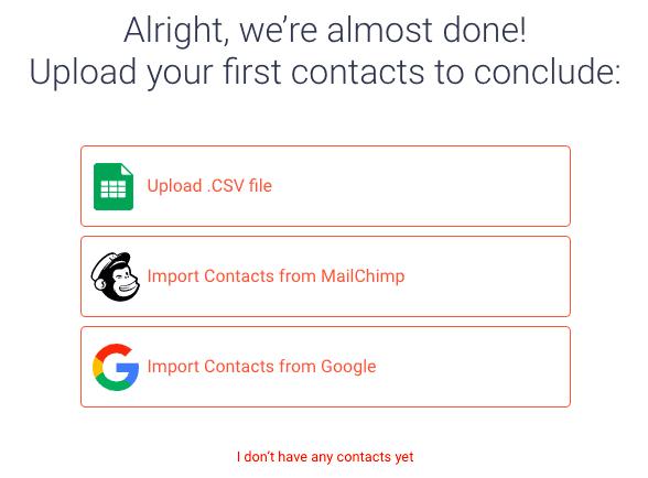 sendfox upload contacts