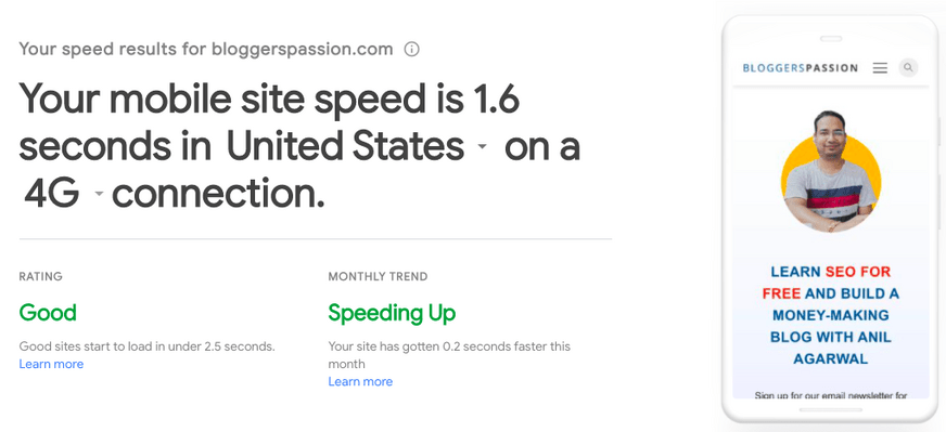 mobile speed